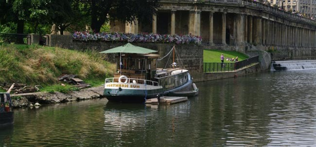Charley Dancey moored at North Parade gardens before his eviction last year