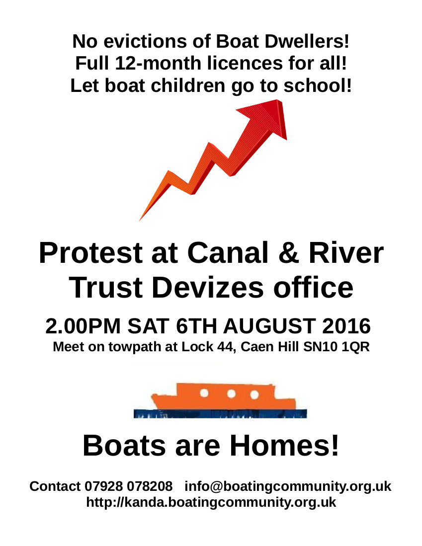 Protest CRT Devizes office flyer 6-8-2016